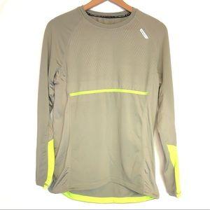 Hind sz L gray green running shirt athletic safety